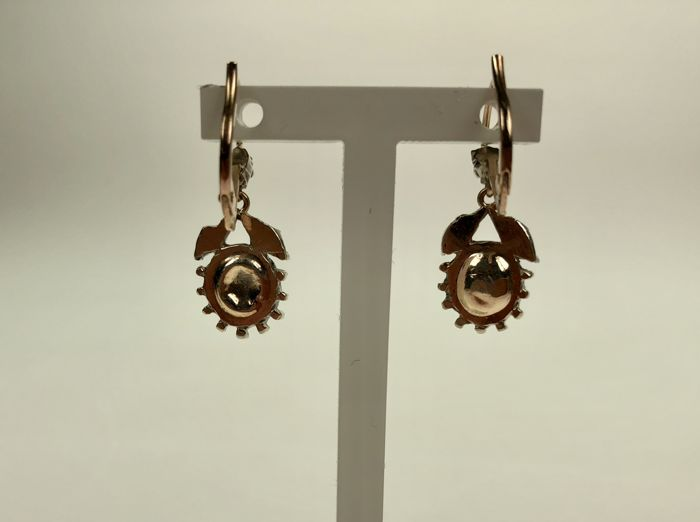 Victorian earrings with diamonds ct around 1880 for 4 4422 c