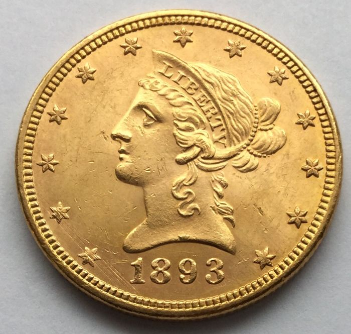United States - 10 Dollars 1893 'Liberty Head' - gold