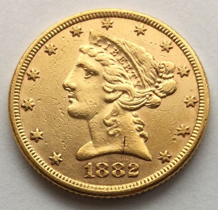 United States - 5 dollars 1882 'Liberty Head' - gold