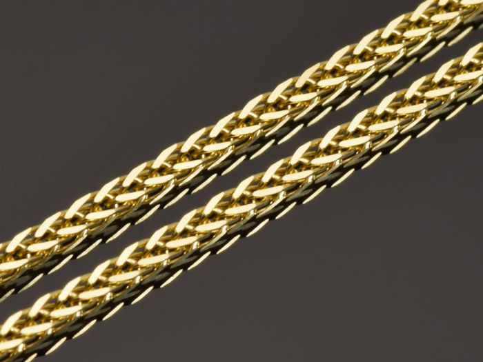 "18k Gold Necklace. Solid Chain ""Wheat"" · Length 60 cm · Weight 2.76 g"