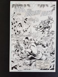 Steve Erwin - Original Art Splash Page - New Gods #25 - Page 4 - (1991)