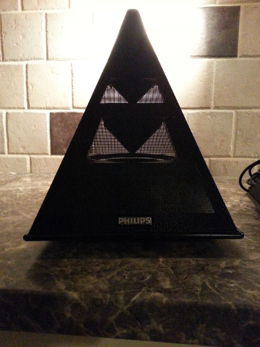 Set zeldzame vintage 1985 Philips Match Line mid/hi piramide/satelliet speakers - type 22AV1993/01 - in absolute nieuwstaat
