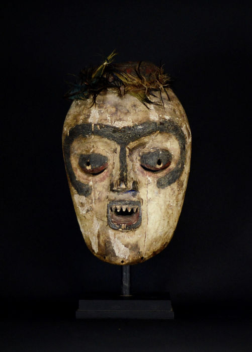 Very Old African tribal BEMBE Mask. Kivu region D.R.C. Democratic Republic Congo.