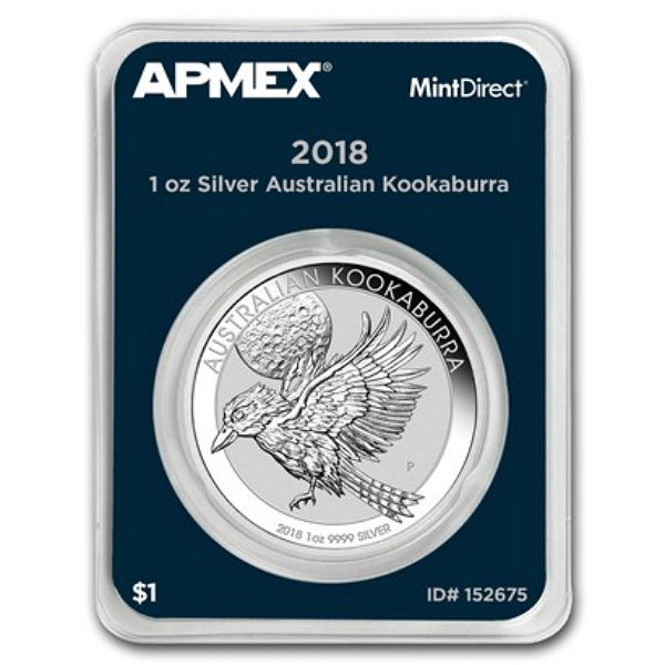 Australia - 1 Dollar, 2018, 'Kookaburra', MintDirect Slab Packaging - 1 oz Silver