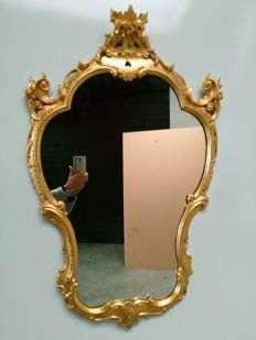 Wall mirror in Louis XV style, Italy 20th century