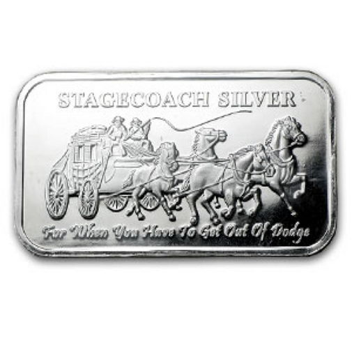 United States - silver bars Stagecoach silver - Stagecoach divisible - 4 x 1/4 oz silver