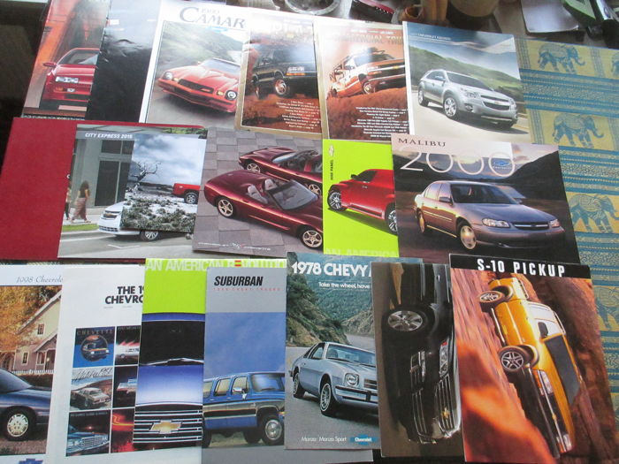 Brochures / Catalogi - Chevrolet - 1978-2012 (18 items)