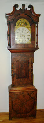 English longcase clock with a painted dial - Period 1840