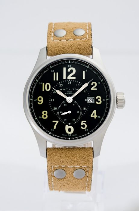 Hamilton - KHAKI FIELD OFFICER AUTOMATIC 44MM - H70655733  - Men - 2011-present