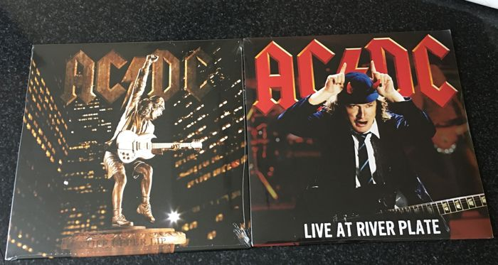 AC/DC - 2 albums 1 with 3 records  stiff upper lip and live at river plate