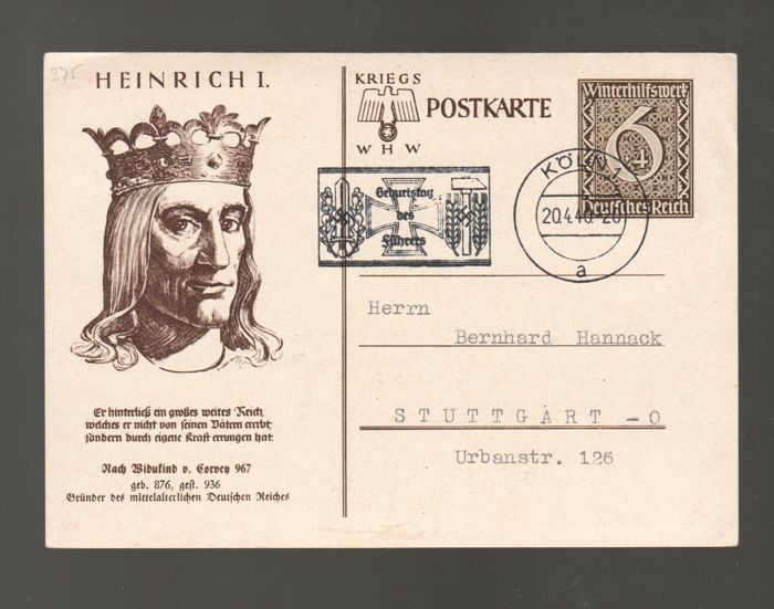 German Empire/Reich 1936 /1944 - batch with 43 propaganda cards and ...