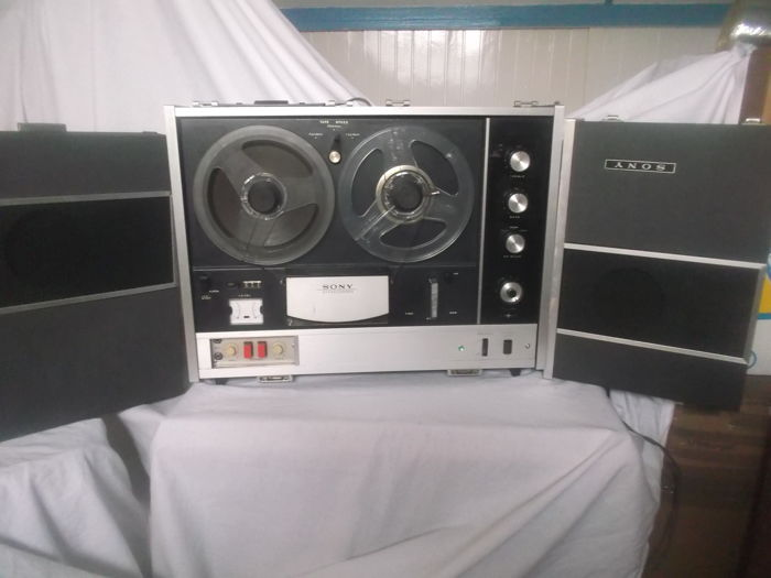 Vintage Sony reel to reel recorder type TC530, fully serviced, year of built 1967, with internal amplifier and boxes, and external boxes