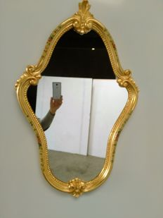 Golden Venetian Wall Mirror - lacquered - Italy, 20th century