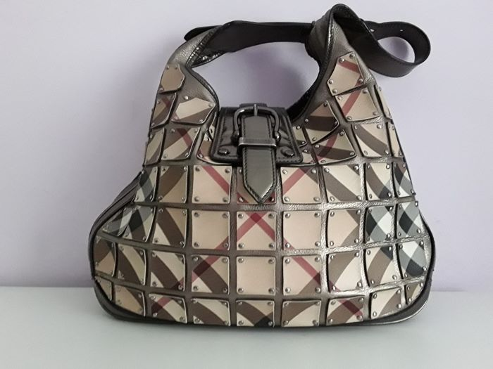 7f1a13cab099 Burberry - Nova Check Coated Canvas Brooke Warrior Handbag ...