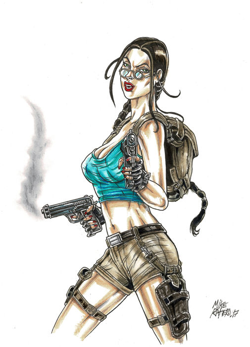 Lara Croft Tomb Raider Original Drawing Ratera Mike