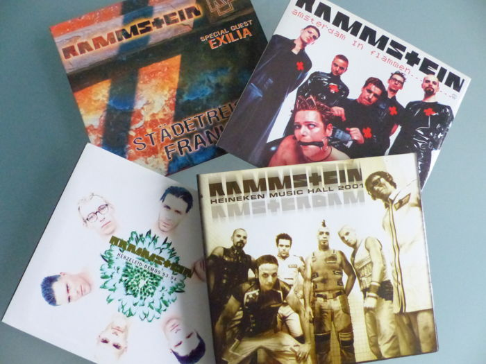 Rammstein - 6 CD set - LIVE in Concert - 1997 - 2001 - 2004 and Herzeleid Demos