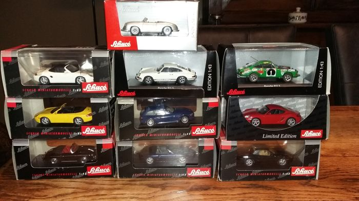 Schuco - Scale 1/43 - Lot of 10 models: 10 x Porsche