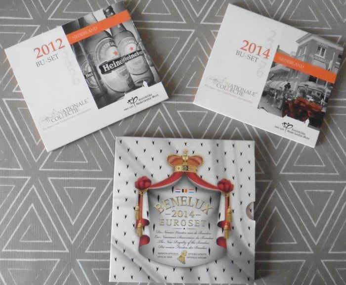 The Netherlands - Benelux set 2014 plus year pack/ year collection 2012 en 2014