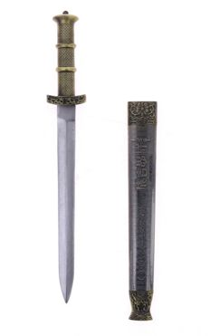 Oriental dagger with sheath - Dagger with the characters of the Emperor Genghis Khan (1162-1227)