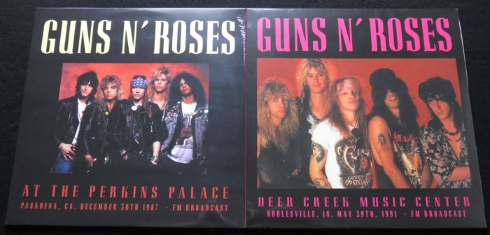 Guns n' Roses - Great lot of 2 limited (500 copies each) albums (4LP's): At The Perkins Palace/Deer Creek Music Center