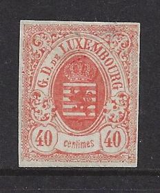 Luxembourg 1859 - Selection of Coat of Arms stamps imperforated - Michel 11