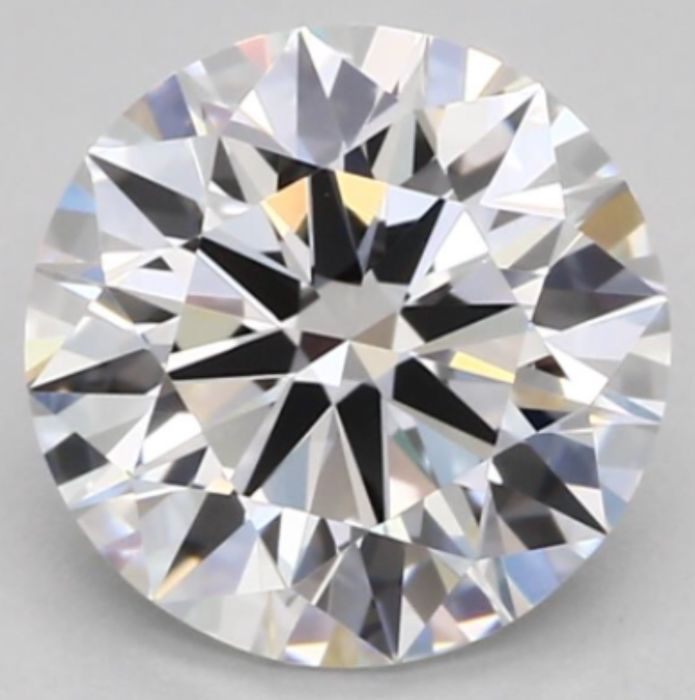 0.72CT E/IF GIA Certified round brilliant cut diamond - Laser inscribed - Original image 10X