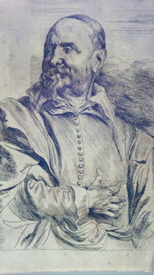 Etching by Anthony van Dyck (1599-1641) - Portrait of Jan Snellinck