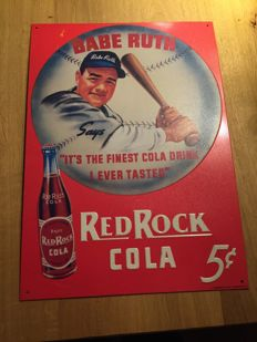 Red Rock Cola Board by Babe Ruth 1991 VERY UNIQUE, dimensions 30 cm by 40 cm ,original copy cutout from behind