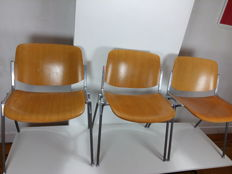 Giancarlo Piretti for Castelli - 3 'DSC 106' Stacking Chairs