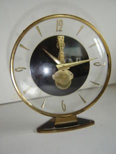 Kaiser 'Skeleton' Table Clock - Approx. 1950