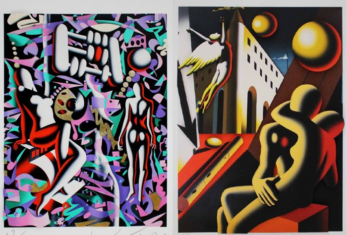Mark Kostabi - Sirens of Temptation and The Zen of Desire
