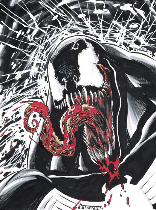 VENOM - Spiderman - Marvel Comics - Original Drawing - Will Torres