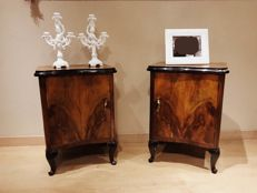 Pair of nightstands, Italy, first half of 20th century