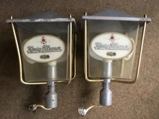2 wall lamps for König Pilsener - Germany, Mid 20th century