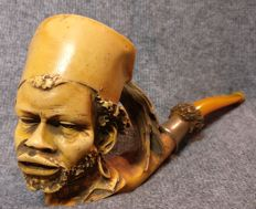 Resin pipe, with an African face - Austria, Vienna - 1970s/80s