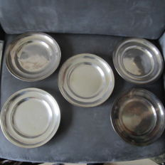5 silver plated plates
