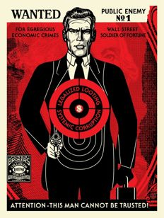 Shepard Fairey (OBEY) - Wall Street Public Enemy