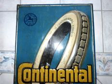 Continental Cord - ancient tin advertising sign - Germany around 1930