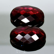 2 Red Garnet - 17.45 ct.  - No Reserve Price