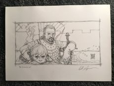 Signed Art Print - Games of Thrones - Tyrion Lannister  and Ser Bronn