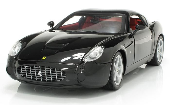 Hot Wheels - Scale 1/18 - Ferrari 575 GTZ Zagato 2006 Black