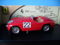 Hot Wheels - Scale 1/18 - Ferrari 166MM Barchetta #22 Winner Le Mans 1949