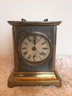 Metal alarm clock - France, early 20th century