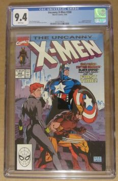 Uncanny X-Men #268 - Captain America / Black Widow / Wolverine - Jim Lee Cover - CGC 9.4 - (1990)