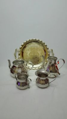 1000 silver-plated breakfast set
