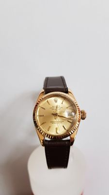 Rolex - Datejust Gold Ladies Auction  - 5418014  - Naiset - 1980-1989
