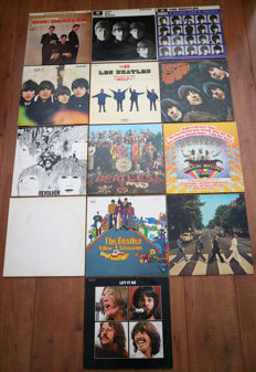 The Beatles- Great lot of 13 lp's: from Introducing... The Beatles to Let It Be/ including all their greats (most studio albums!) like Sgt. Pepper's (w. cut outs!), Abbey Road (UK issue) & Magical Mystery Tour (w. complete booklet!)!