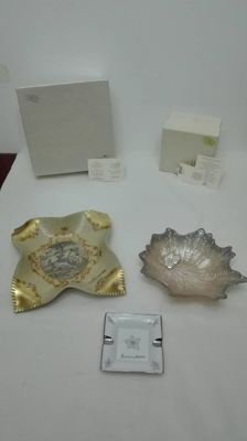 925 silver and Swarovski decorations - Chocolate tray, Ashtray, Valet tray