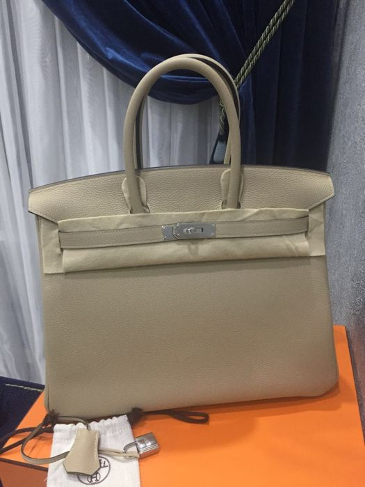 Hermes - Birkin 35 Trench Togo Borsa a mano - Special Order year 2017