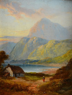 George Blackie Sticks (1843 - 1938) - Cottage at Mountain Bay